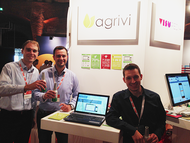 Agrivi TNW team at the end of successfull demo day with well deserved reward - beer :)
